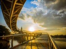 L'entrata del ` del ` S al Darul Hana Bridge fotografia stock libera da diritti