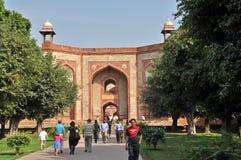 L'entrata della tomba di Humayun, Nuova Delhi, India Fotografia Stock Libera da Diritti