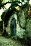 L'entrata di un castello Fotografia Stock