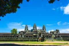 L'entrata posteriore a Angkor Wat cambodia Fotografie Stock Libere da Diritti