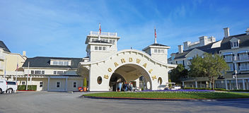 L'entrata principale dell'hotel del sentiero costiero di Disney immagine stock libera da diritti