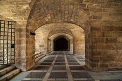 L'entrata sotterranea di Almudaina Royal Palace Immagine Stock Libera da Diritti
