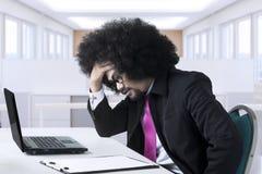 L'entrepreneur africain a un problème Photos stock