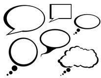 L'entretien comique de dessin animé bouillonne clipart (images graphiques) Images stock