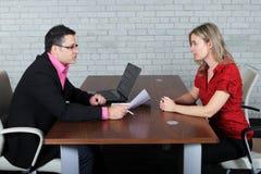 L'entrevue Photos libres de droits