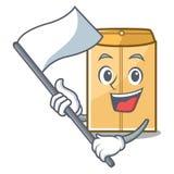 L'enveloppe d'annonce de drapeau étant isolé dans la bande dessinée illustration stock