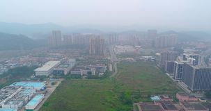 L'envergure au-dessus de la zone industrielle en Chine Vue aérienne de zone industrielle des Chine banque de vidéos
