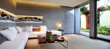 L'environnement d'intérieur d'hôtel Images libres de droits