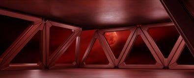 L'environnement de l'espace prêt pour des élém. de vos caractères 3D rendent illustration de vecteur
