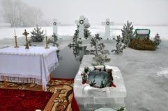 L'epifania del signore nel villaggio di Mukhavka Fotografia Stock