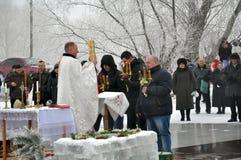 L'epifania del signore nel villaggio di Mukhavka Fotografia Stock Libera da Diritti