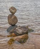 L'equilibrio delle pietre Fotografia Stock