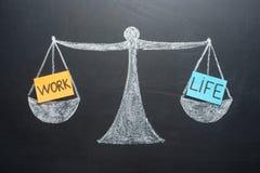 L'equilibrio di vita del lavoro riporta in scala l'affare e la scelta di stile di vita della famiglia fotografia stock libera da diritti