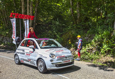 L'Equipe Newspaper's Car. Col du Granier,France-July 13th, 2012: The car of the L'Equipe newspaper during the passing of the Publicity Caravan on the category I Stock Images