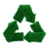 l'erba 3d ricicla illustrazione vettoriale