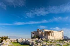L'Erechtheion ou l'Erechtheum athènes La Grèce photo libre de droits