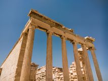 L'Erechtheion ou l'Erechtheum est un temple du grec ancien photographie stock libre de droits
