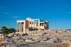 L'Erechtheion sur l'Acropole d'Athènes. La Grèce. photos stock