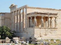 L'Erechtheion - un temple du grec ancien dans l'Acropole Photographie stock libre de droits