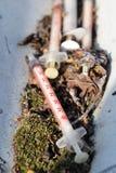 L'eroina spruzza Fotografia Stock