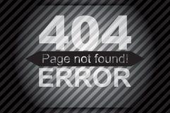 l'erreur 404, paginent non trouvé Image stock
