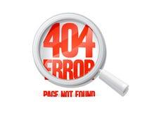 l'errore 404, impagina non trovato. Fotografie Stock