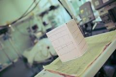 L'esame medico risulta sui precedenti del equi del technicall Fotografie Stock