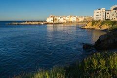 L'Escala-Dorf. Costa Brava, Spanien. Lizenzfreie Stockbilder