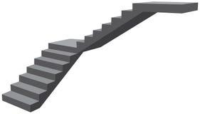 L-escaleras de la sección sin las verjas Fotos de archivo