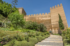 L'escalier Alcazaba d'entrée Photos stock