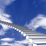 L'escalier au ciel Photo libre de droits