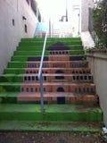 L'escalier de couleur images libres de droits