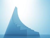 L'escalier fait un pas au fond de lumière de bleu de ciel de ciel Photos libres de droits