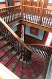 L'escalier grand au château de Larnach dans la nouvelle ardeur de Dunedin Images stock