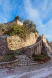 L'escalier interne du château de Brescia, Italie Photos stock