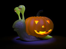 l'escargot 3d va tout le Halloween Images stock