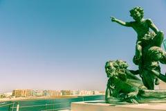 L escultura monumental de Espoir del ` en Palavas-les Flots Imagenes de archivo