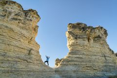 L'escursione della formazione rocciosa al castello oscilla in Kansas Immagini Stock