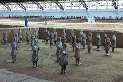 L'esercito di terracotta di Xian Immagine Stock Libera da Diritti