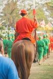 L'esercito e la cavalleria antichi della Tailandia fotografia stock libera da diritti