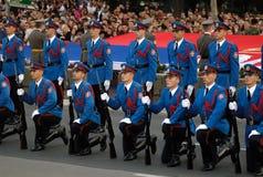 L'esercito serbo custodice l'unità exercise-1 Fotografie Stock Libere da Diritti