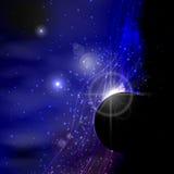 l'espace Éclair de planète Illustration illustration libre de droits