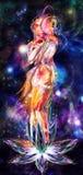 L'espace étant amoureux Images libres de droits