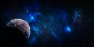 L'espace étoilé bleu de ciel Photos libres de droits