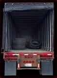 L'espace affichant intérieur de cargaison de camion Photo libre de droits