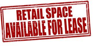 L'espace au détail disponible pour le bail Photographie stock libre de droits