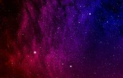 L'espace avec la nébuleuse. Photos stock