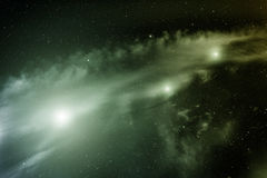 L'espace avec la nébuleuse Photo libre de droits