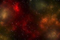 L'espace avec la nébuleuse pourpre Photographie stock