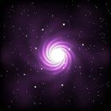 L'espace avec les étoiles et la galaxie illustration stock